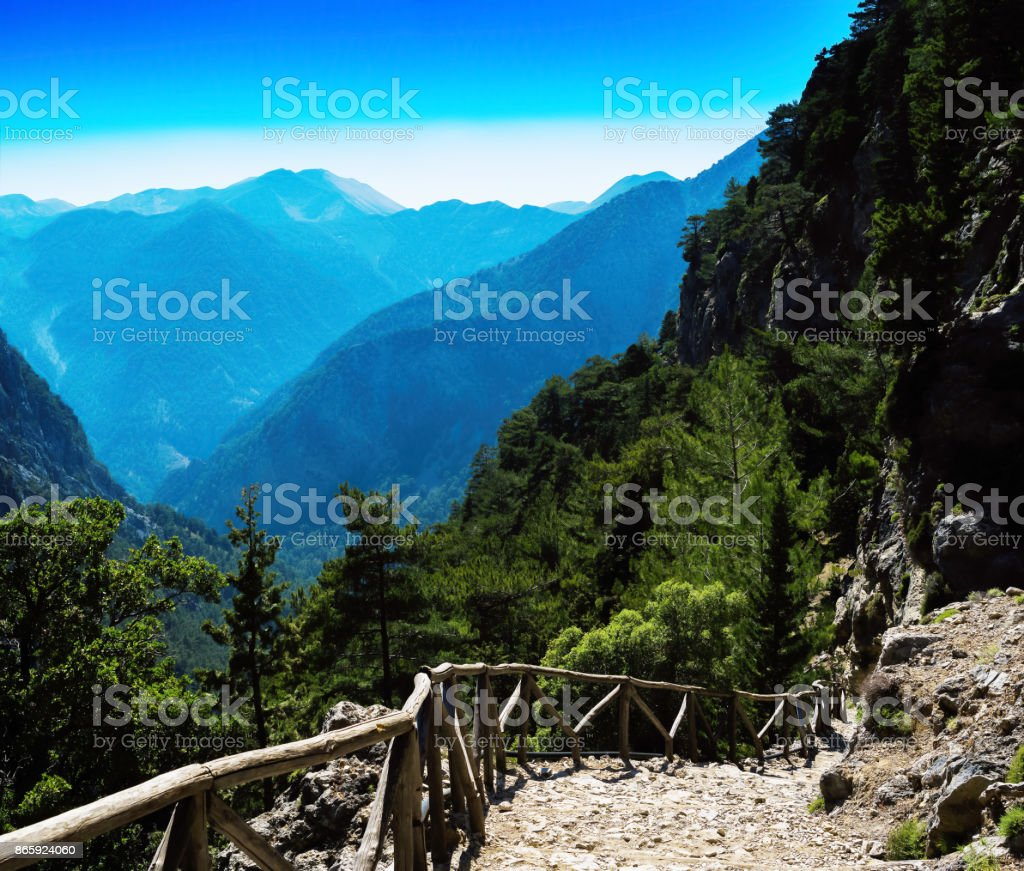 square vivid mountain down stairs landscape background backdrop