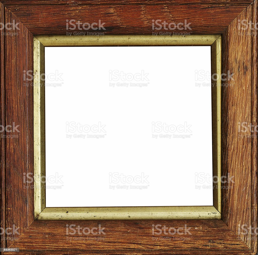 square wooden frame royalty-free stock photo