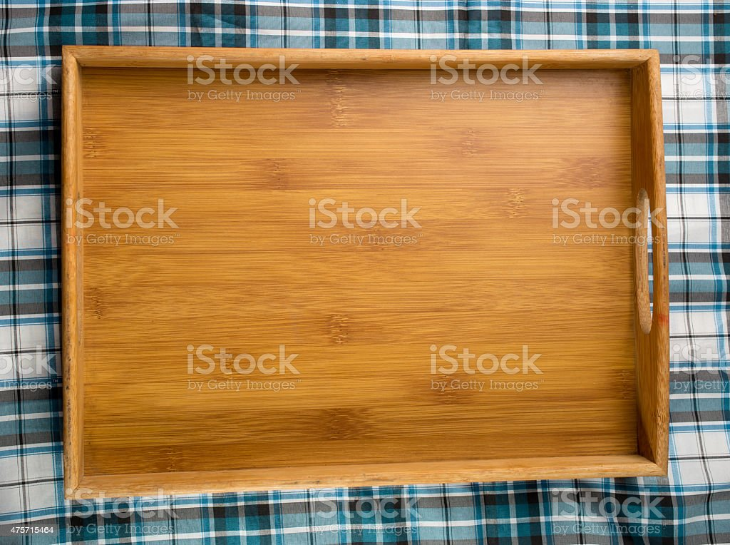 square table top view. Square Wooden Tray On Table Top View Royalty-free Stock Photo