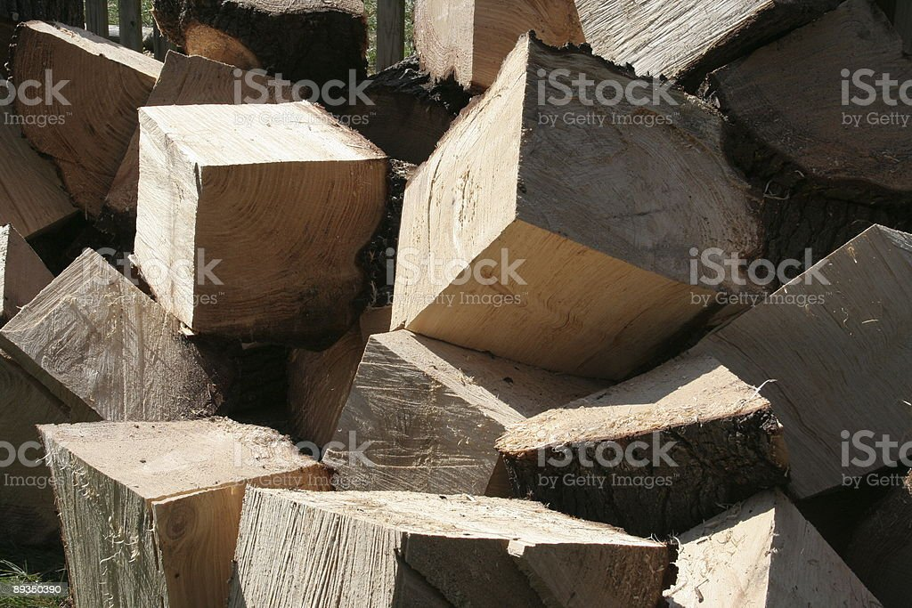 square-cut logs royalty-free stock photo