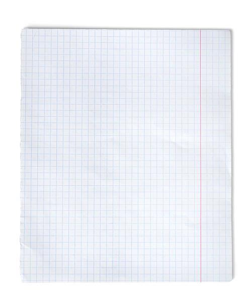 quadrados de papel - folha de caderno imagens e fotografias de stock