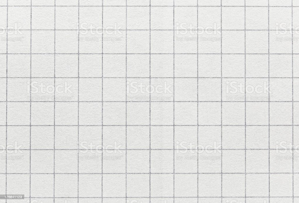 Squared paper texture background macro view stock photo