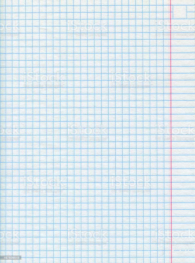 Squared sheet of paper stock photo
