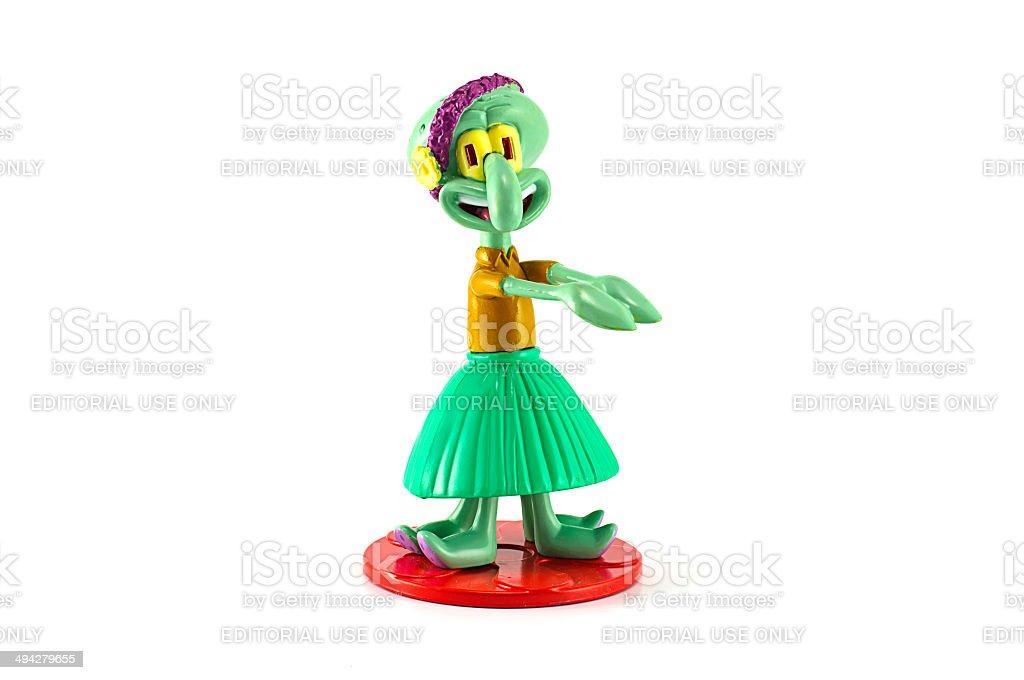 Esponja-SQUIDWORD personagem Toy Dançarino de Hula - foto de acervo
