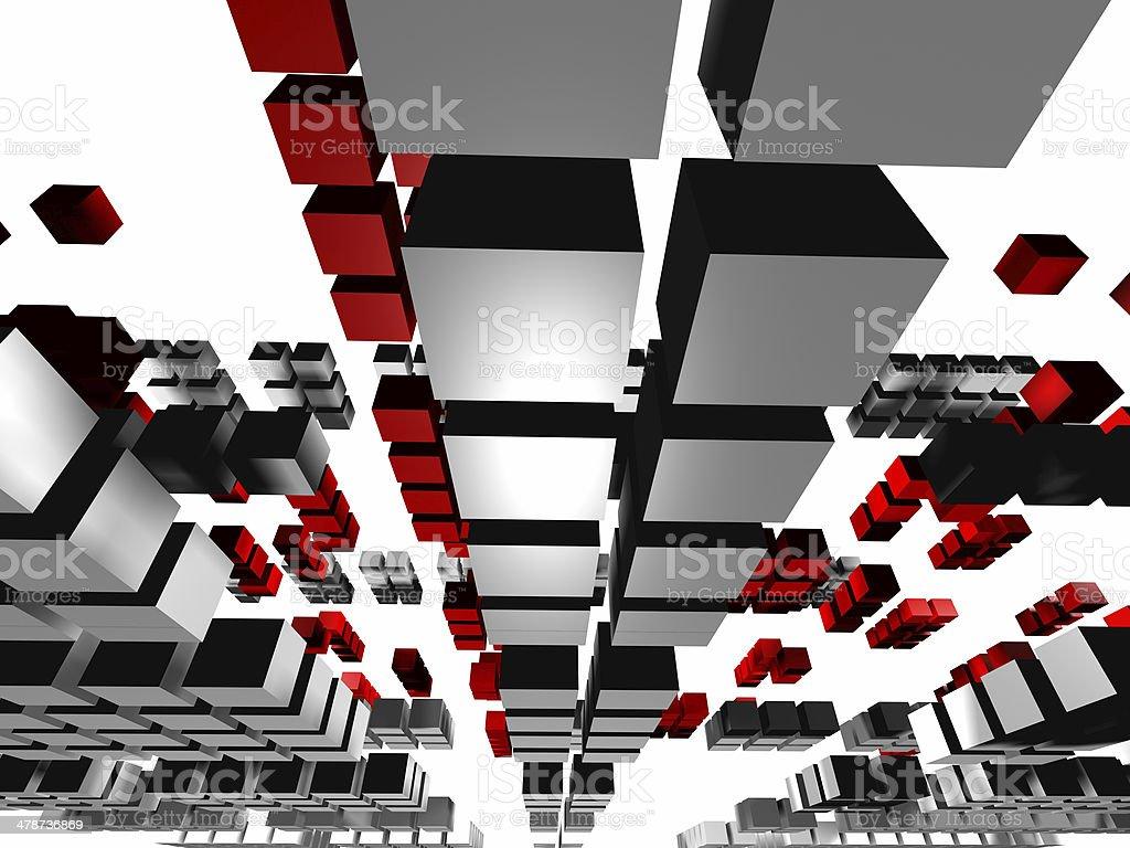 Squares, virtual traffic2 stock photo