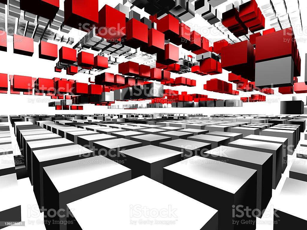 Squares, virtual traffic3 stock photo