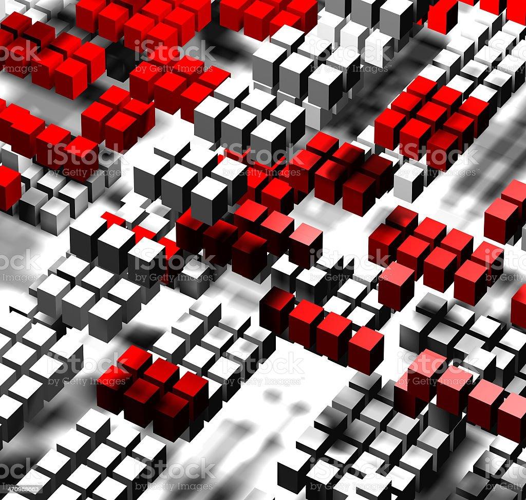Squares,virtual traffic stock photo