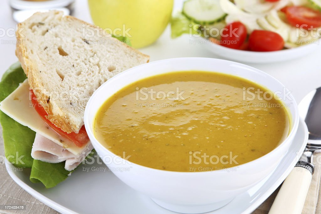 squash and sandwich royalty-free stock photo