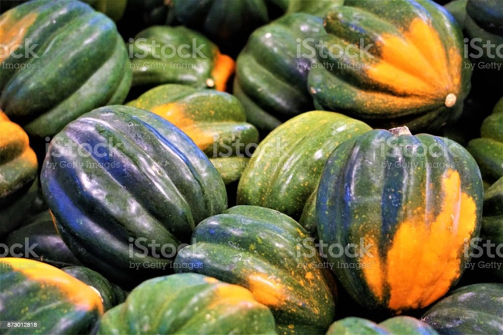 Squash at a farmer's market stock photo
