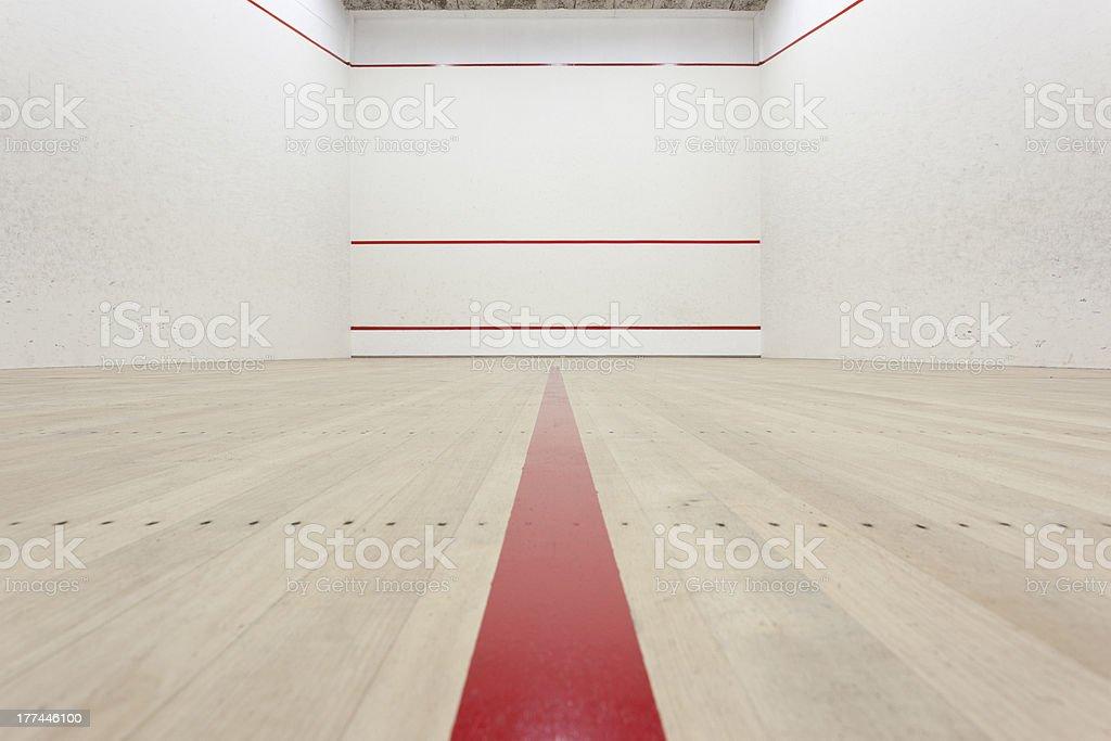 Squash Court stock photo