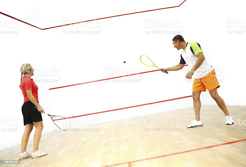 Squash game. royalty-free stock photo