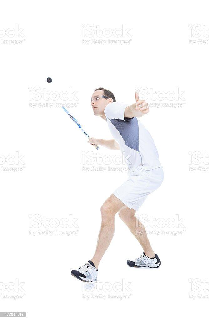 Squash Player stock photo