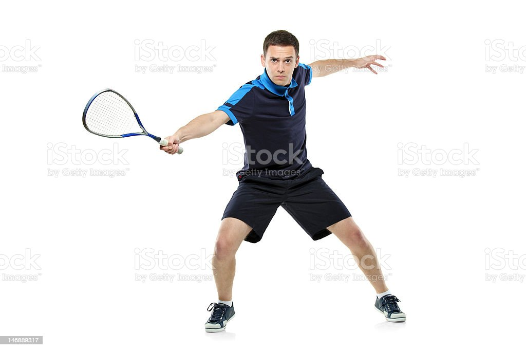 Squash player playing royalty-free stock photo