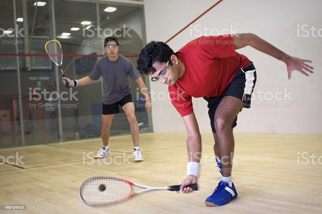 Squash players stock photo