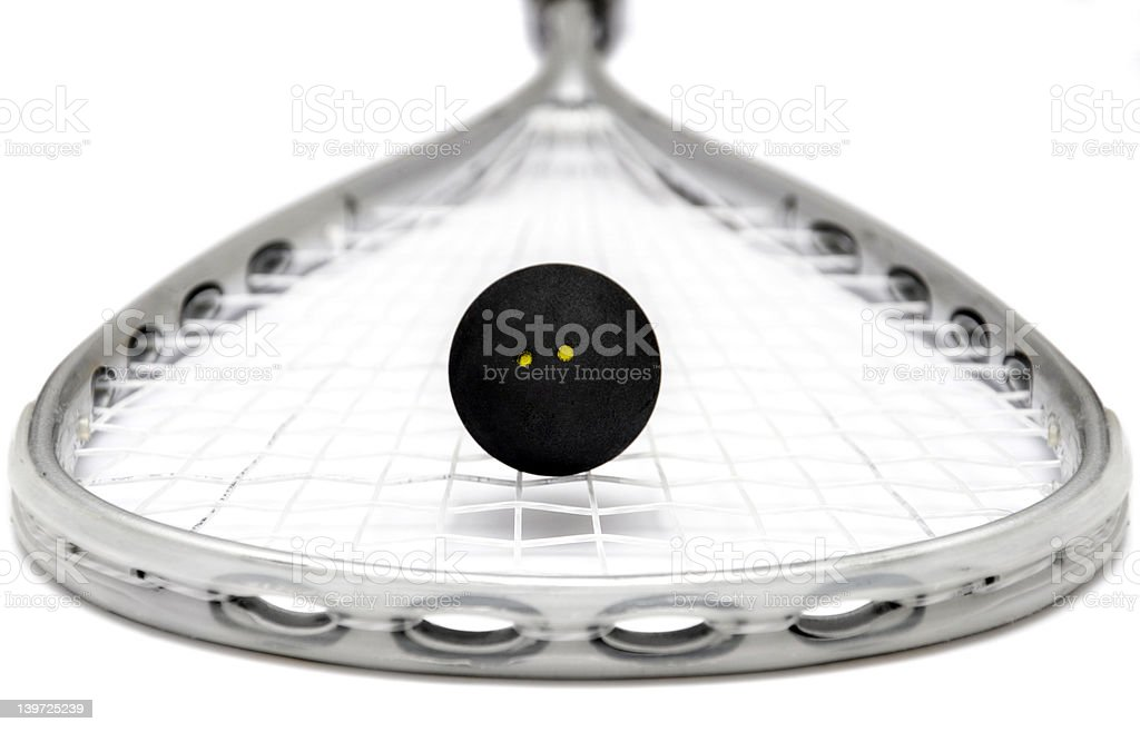 squash racket and ball royalty-free stock photo