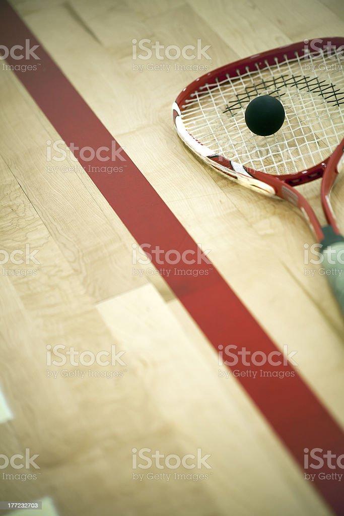 Squash Racket stock photo