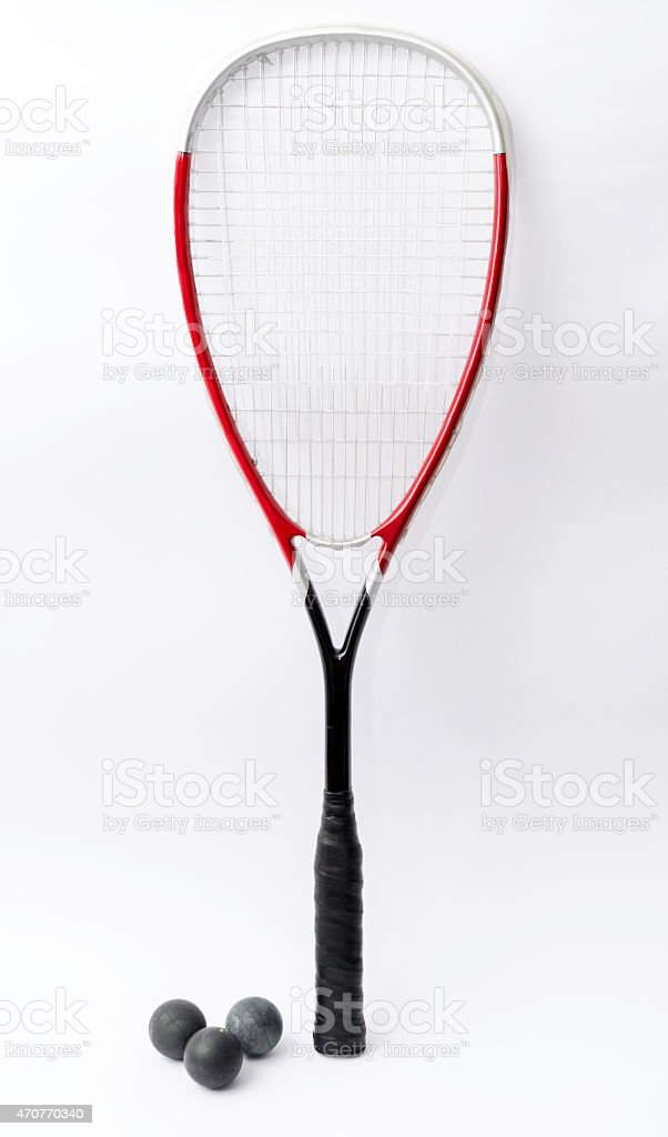 Squash racket stock photo
