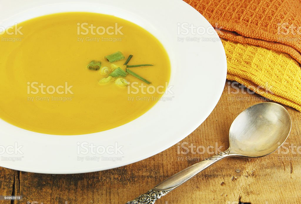 Squash Soup royalty-free stock photo