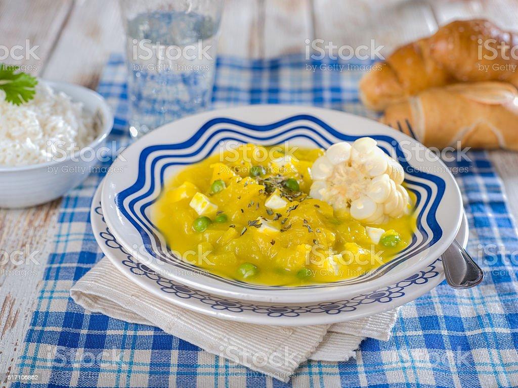 Squash Stew, Locro de Zapallo, a typical Peruvian dish stock photo