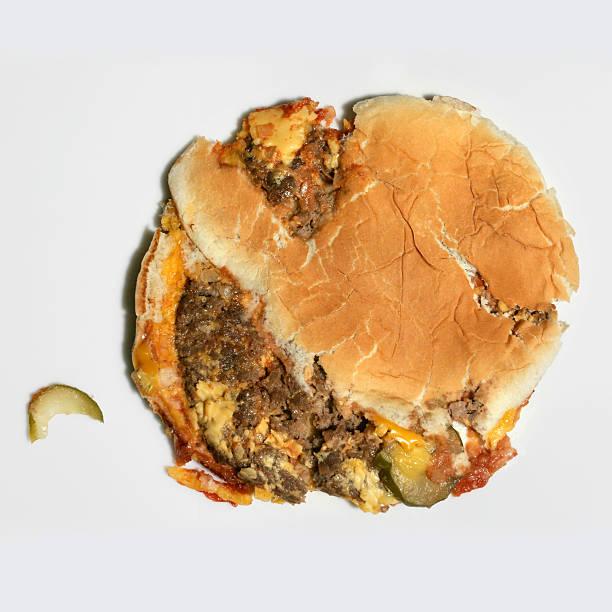 Cheesebúrguer de espaço de comida - foto de acervo