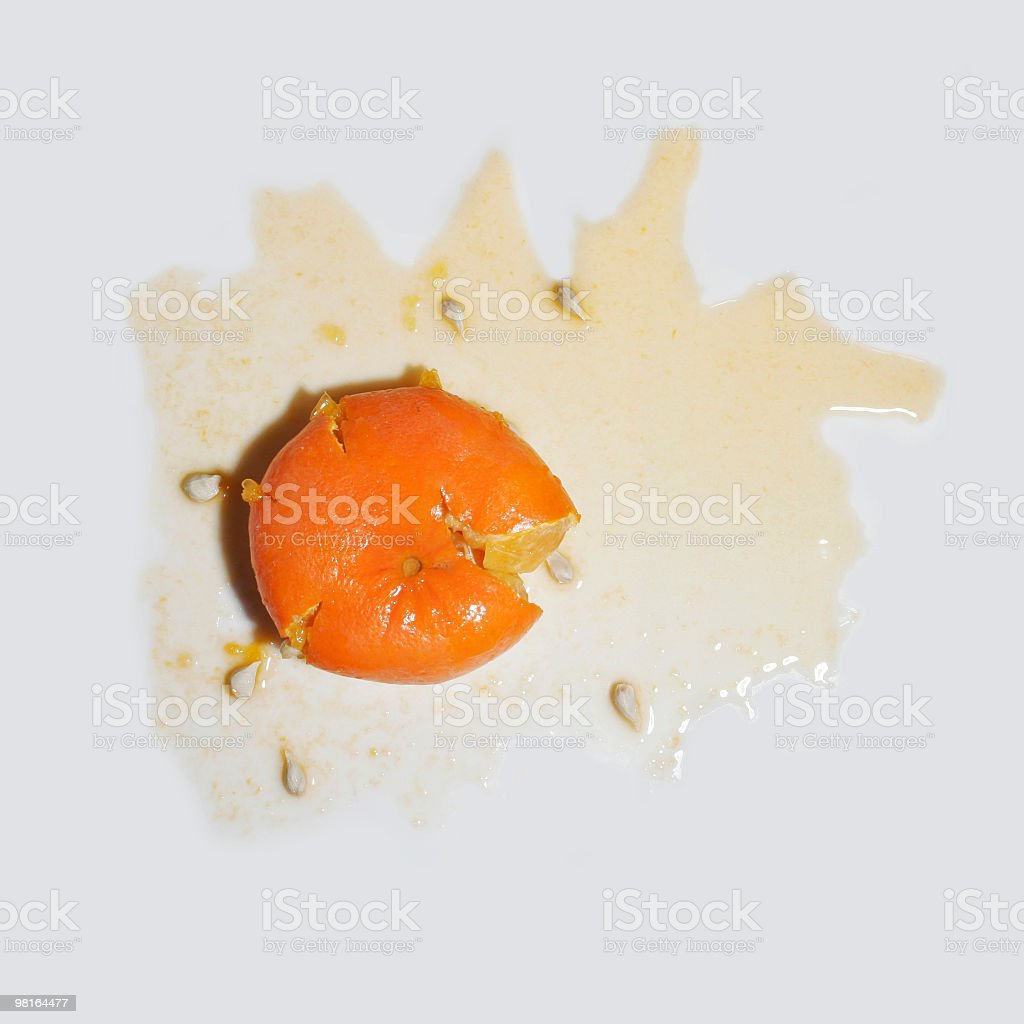 Squashed Food - Orange stock photo