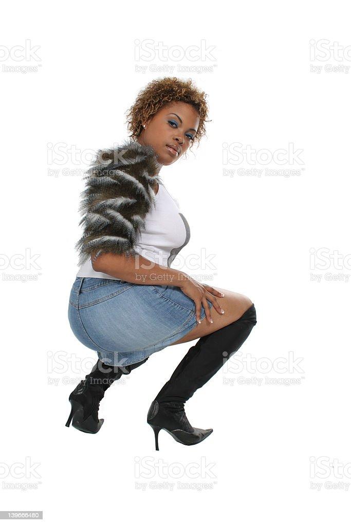 squat down royalty-free stock photo