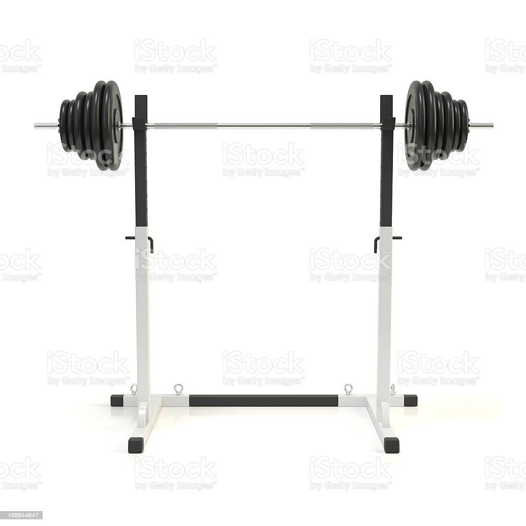 Squat rack stock photo