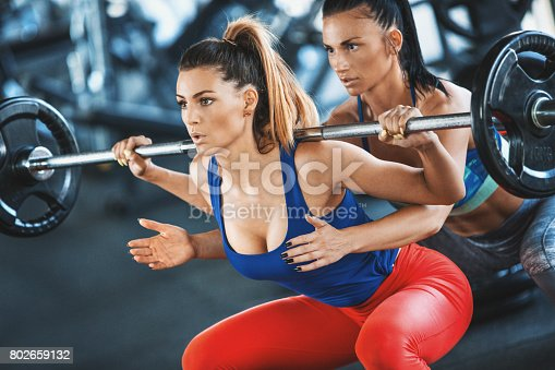 istock Squat workout. 802659132