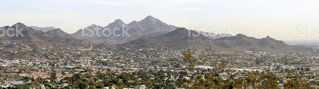 Squaw or Piestewa Peak Panorama royalty-free stock photo