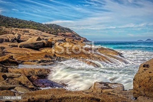 The famous Squeaky Beach at Wilson's Promontory National Park in Gippsland Victoria
