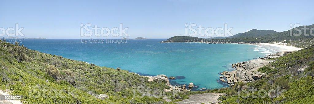 Squeaky Beach Panorama, Wilson's Promontory, Victoria, Australia stock photo