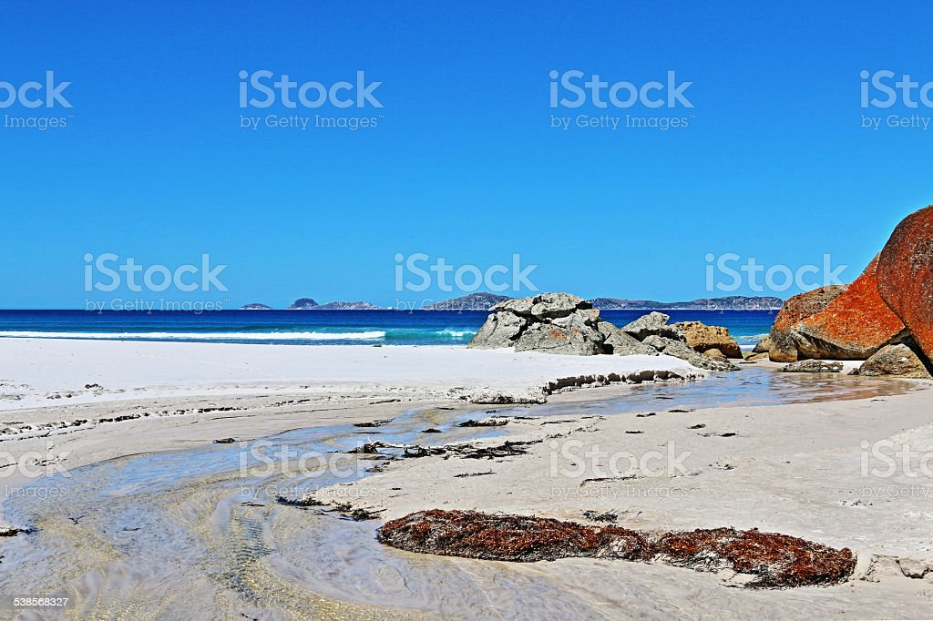 Squeaky Beach Tidal River stock photo