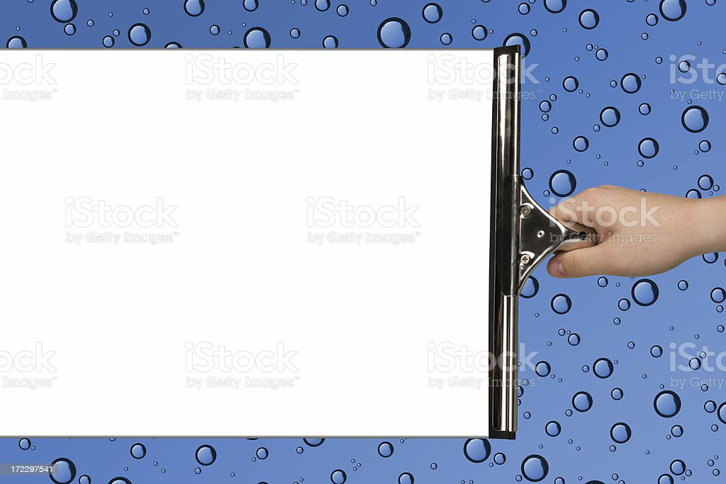Squeegee It! stock photo