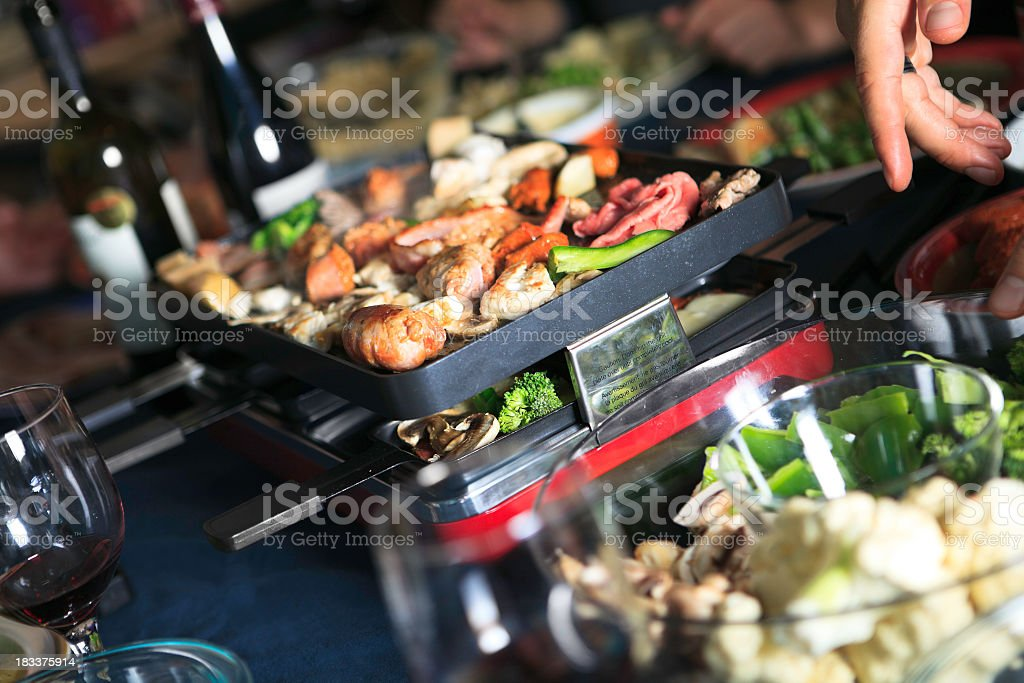Raclette royalty-free stock photo