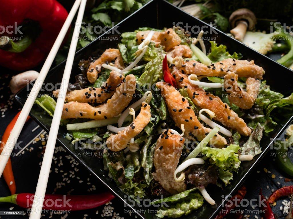 Tintenfischweizen Sprießt Gemüse Rezept Mahlzeit Asiatische Küche ...