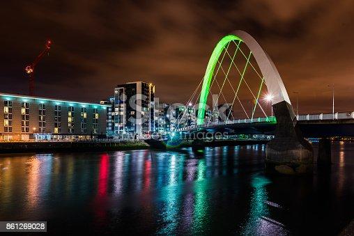 istock Squinty Bridge in Glasgow. 861269028