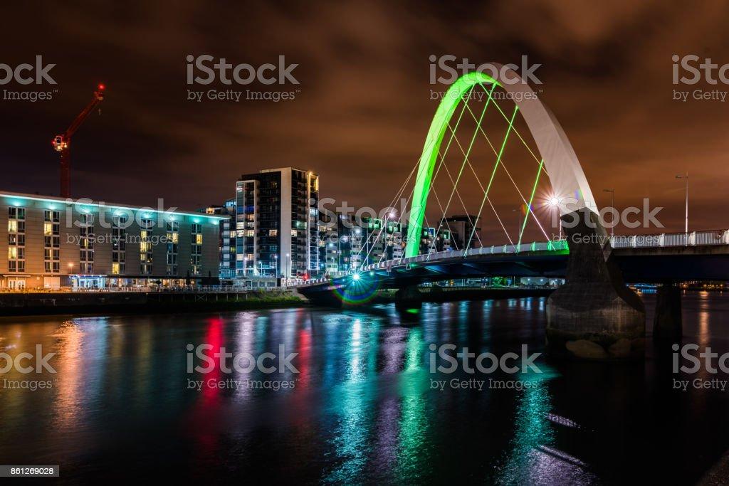 Squinty Bridge in Glasgow. stock photo