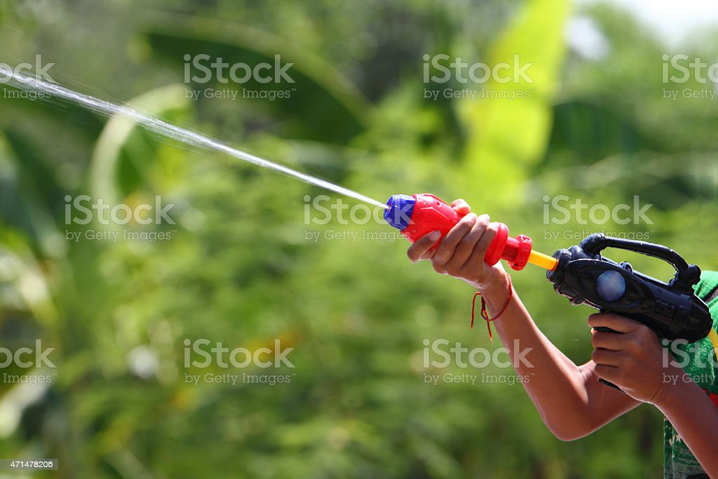 Squirt Gun or Water Gun stock photo