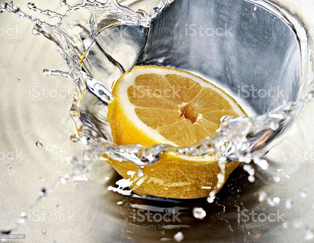 squirting lemon royalty-free stock photo
