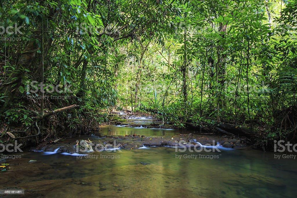Sra Nang Manora waterfall stock photo