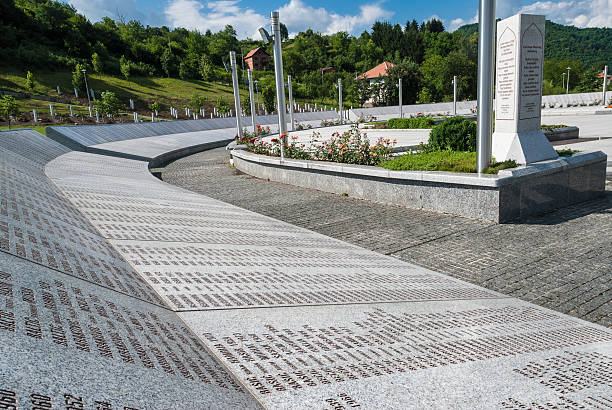 Srebrenica Genocide Memorial stock photo