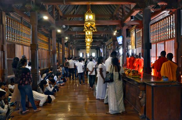 Sri Dalada Maligawa, the Temple of the Sacred Tooth in Kandy stock photo
