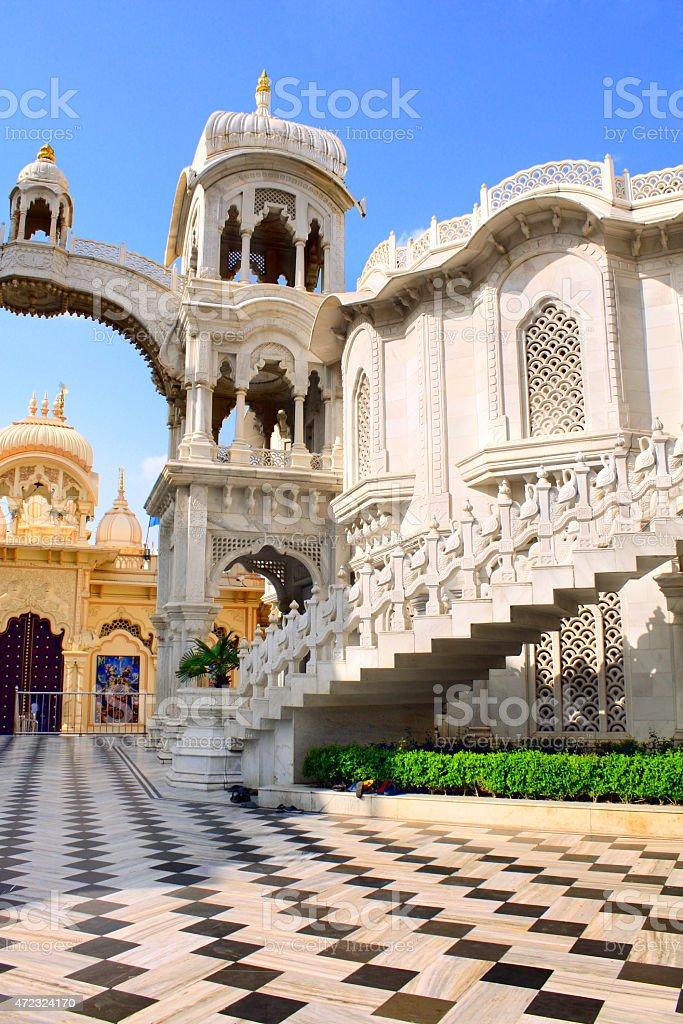 Sri Krishna Balaram temple, Vrindavan, India stock photo