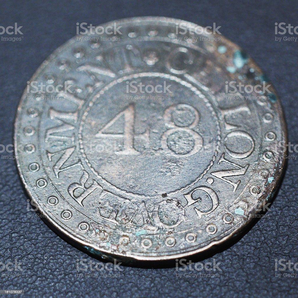 Sri Lanka ancient coin royalty-free stock photo