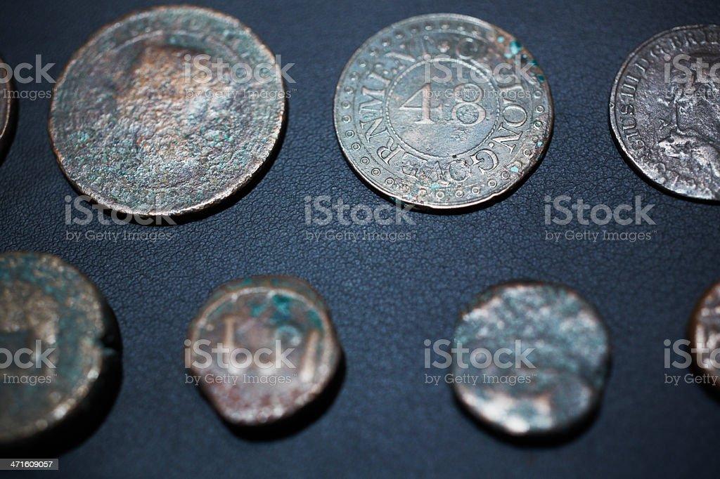 Sri Lanka ancient coins stock photo