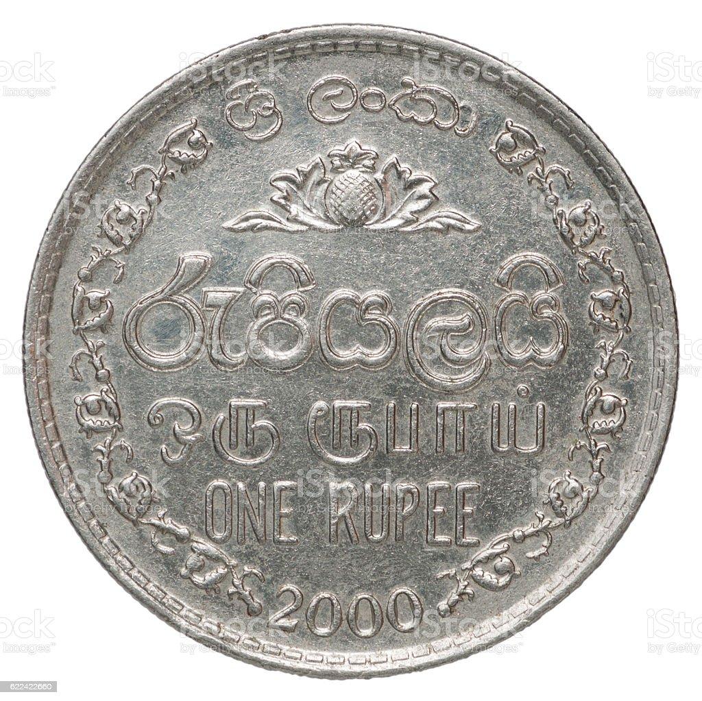 Sri Lanka coin stock photo