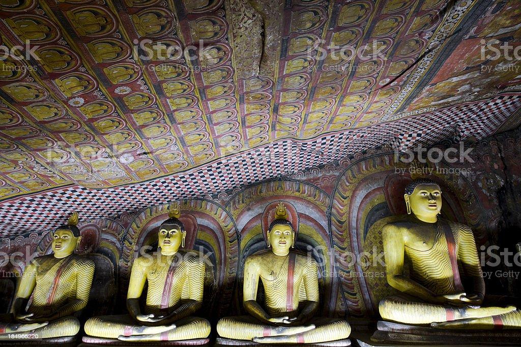 sri lanka dambulla temple stock photo