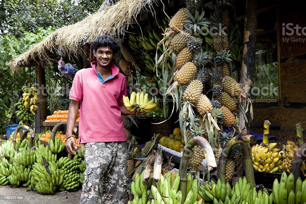 Sri Lanka fruit market stock photo