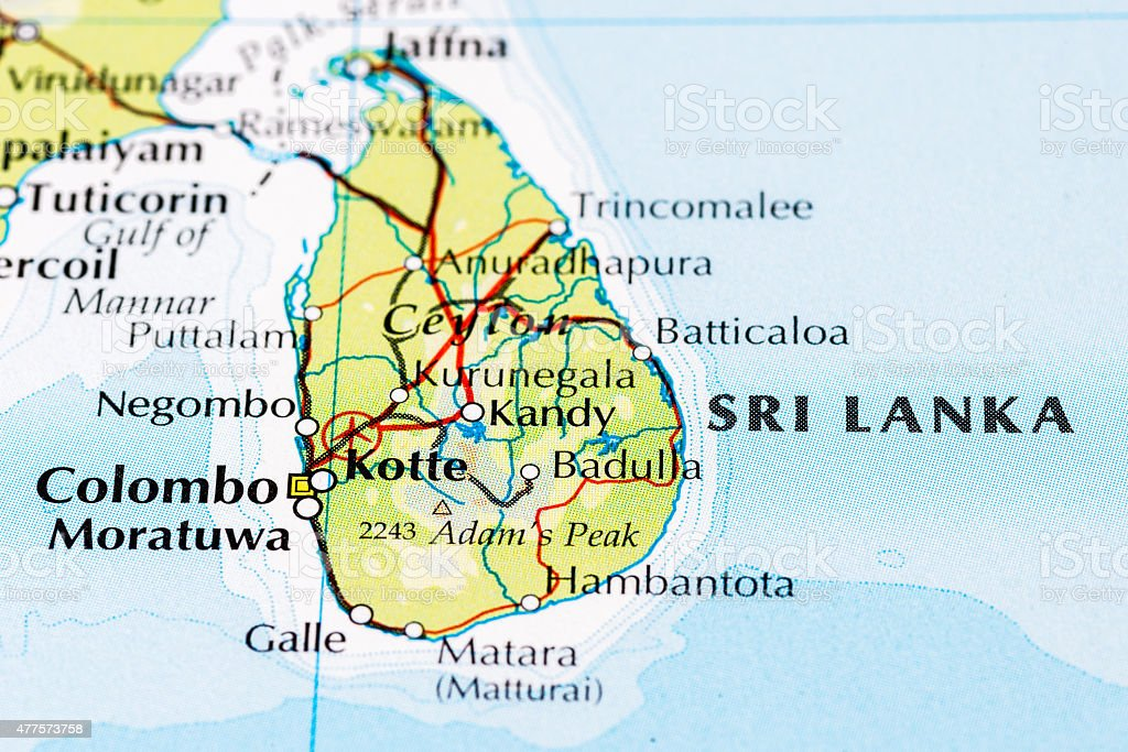 Sri Lanka Map Close Up stock photo iStock