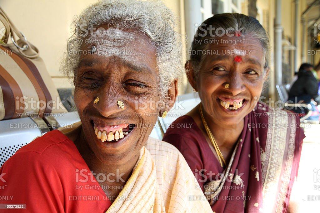 Sri Lanka mature woman stock photo